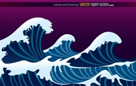 wave,tide,splash,sea,ocean,illustration,wallpaper,background,backdrop,misc,nature,natural,surf,surfing
