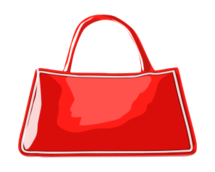 bag,handbag,no contour,clothing,leather,colour,red
