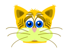 sad,animal,mammal,feline,tiger,cat,toy,mascot,cartoon,no contour
