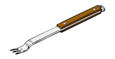media,clip art,externalsource,public domain,image,png,svg,barbeque,bbq,fork,tool,uspto,cooking